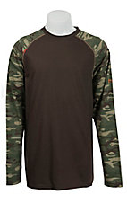 Ariat Work FR Men's Brown & Camo HRC2 Crew Neck Long Sleeve Flame Resistant Shirt