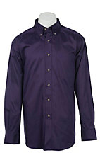 Ariat Men's Solid Purple Western Shirt 10015964X- Big & Talls