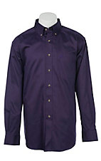 Ariat Men's Solid Purple Western Shirt 10015964