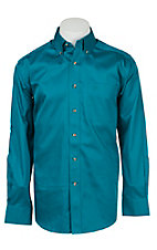 Ariat Men's Solid Blue River Western Shirt- Big & Tall Sizes