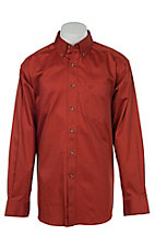 Ariat Men's Solid Brick Western Shirt- Big & Tall Sizes