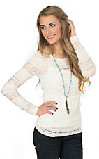 Ariat Women's White Baselayer Lace Long Sleeve Top