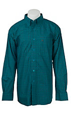Ariat Men's Blue Circle Print Western Shirt