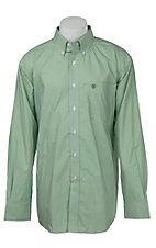 Ariat Men's Green & White Print Western Shirt
