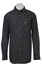 Ariat Mens Black Grid Check Western Shirt
