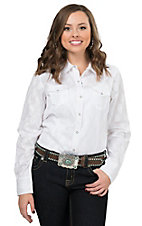 Ariat Women's Monica White Paisley Long Sleeve Western Shirt