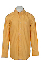 Ariat Men's Yellow Mini Print Western Shirt