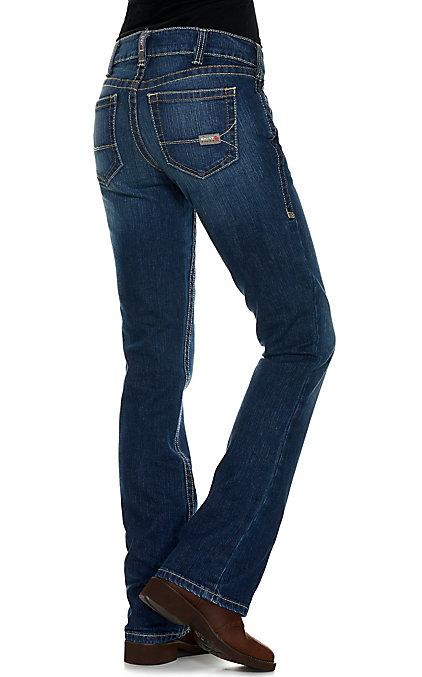 Ariat Work FR Women's Blue Quartz Mid Rise Stretch Boot Cut Flame Resistant  Jeans