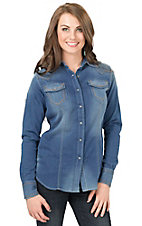 Ariat Women's Bufford Knit Denim Long Sleeve Western Shirt