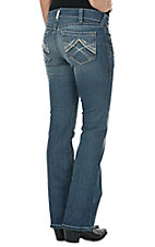 Ariat Women's Rainstorm Whipstitch Mid-Rise Boot Cut Real Riding Jean