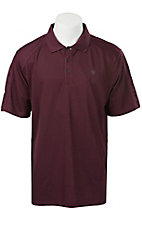 Ariat Men's Burgundy Tek Polo