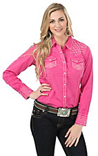 Ariat Women's Rook Marbled Pink Long Sleeve Western Shirt