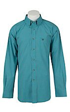 Ariat Mens Aberdeen Turquoise Plaid Western Shirt- Big & Talls