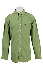 Ariat Men's Baldwin Lime Check Western Shirt- Big & Talls