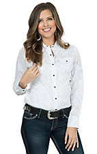 Ariat Women's Maggie White Long Sleeve Western Shirt