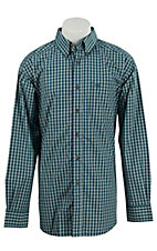 Ariat Men's Banning Teal Plaid Western Shirt