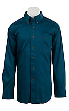 Ariat Men's Solid Poseidon Blue Western Shirt- Big & Talls