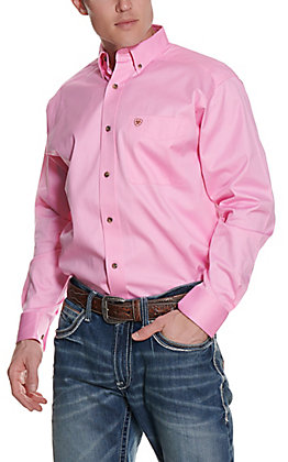 Ariat Men's Solid Prism Pink Western Shirt