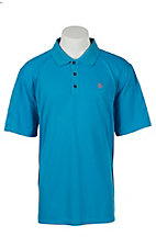 Ariat Men's Methyl Blue Tek Polo