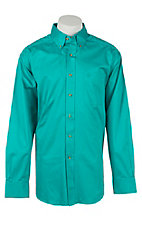 Ariat Men's Solid Liquid Turquoise Western Shirt - Big & Tall
