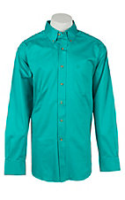 Ariat Men's Solid Liquid Turquoise Western Shirt