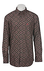 Ariat Men's Dante Brown Print Western Shirt