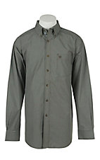 Ariat Mens Dayton Chocolate Plaid Western Shirt