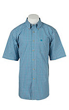 Ariat Mens Fargo Blue Plaid Western Shirt