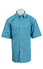Ariat Men's Farley Turquoise Plaid Western Shirt