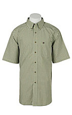 Ariat Mens Fabron Lime Plaid Western Shirt