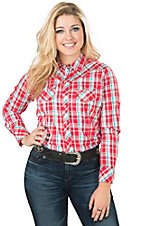 Ariat Women's Ingrid Red Plaid Long Sleeve Western Shirt