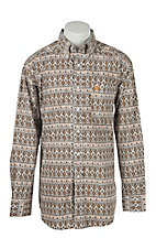 Ariat Men's Finlee Brown Aztec Print Western Shirt