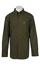 Ariat Men's Fyras Green Print Western Shirt