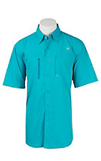 Ariat Men's Peacock Blue Vented Tek Button Up Shirt