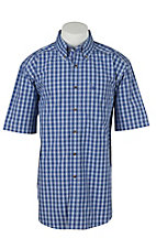 Ariat Mens Gabriello Royal Blue Plaid Western Shirt