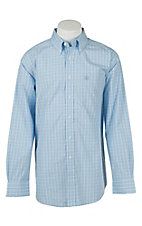 Ariat Mens Garnett Clear Sky Plaid Western Shirt