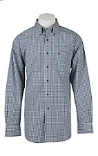 Ariat Mens Gavril Blue Check Western Shirt
