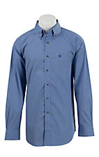 Ariat Men's Gandolf Royal Blue Mini Check Western Shirt