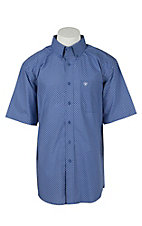Ariat Men's Garry Royal Blue Print Western Shirt