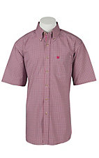 Ariat Mens Halcion Berry Plaid Western Shirt - Big & Tall