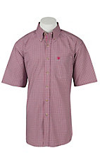 Ariat Mens Halcion Berry Plaid Western Shirt