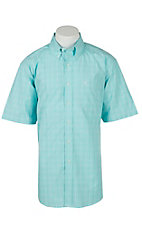Ariat Mens Jabilo Turquoise Plaid Western Shirt