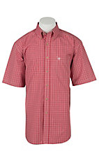 Ariat Mens Jacque Salsa Red Plaid Western Shirt