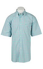 Ariat Mens Jaxson Aqua Plaid Western Shirt