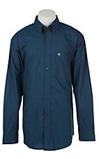 Ariat Men's Halford Blue Print Western Shirt