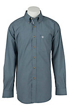 Ariat Mens Nocturnal Blue Grid Western Shirt