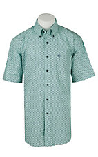 Ariat Men's Hallywell Green Print Western Shirt