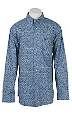 Ariat Men's Heath Blue Medallion Print Western Shirt