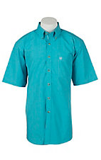 Ariat Mens Jacob Turquoise Plaid Western Shirt