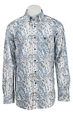 Ariat Men's Cream Synder Paisley Print Western Shirt